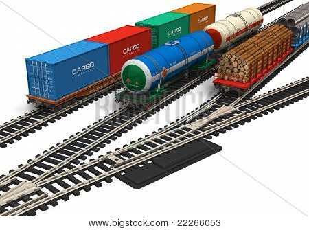 Miniature railroad models