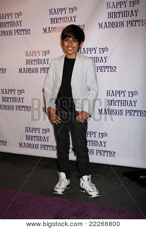 LOS ANGELES - JUL 31:  Karan Brar arriving at the13th Birthday Party for Madison Pettis at Eden on July 31, 2011 in Los Angeles, CA