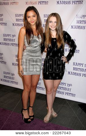 LOS ANGELES - JUL 31:  Stella Hudgens, Sammi Hanratty arriving at the13th Birthday Party for Madison Pettis at Eden on July 31, 2011 in Los Angeles, CA