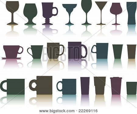 cups, mugs and glasses