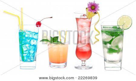 Cóctel de variación de fila con Alcohol