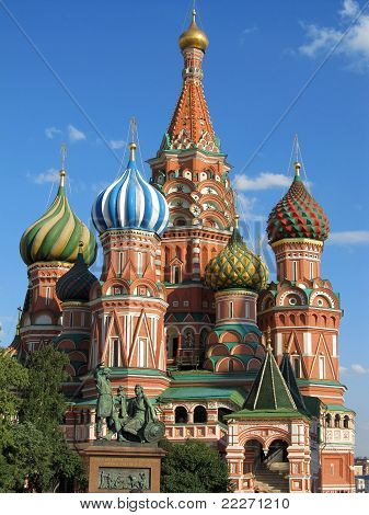 Moscow, Red Square - St. Basil's cathedral