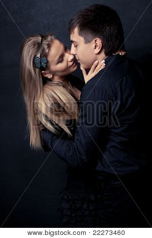 couple wearing black