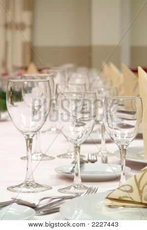 Table Setting Dinner Restaurant