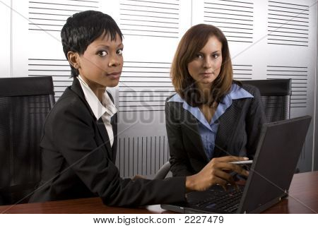 Two Female Business