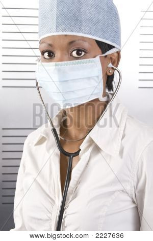 Female African Doctor Pose