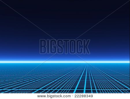 A Neon Grid Effect Backdrop