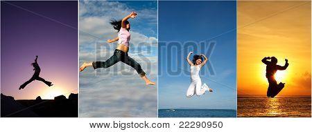 Mulher de salto