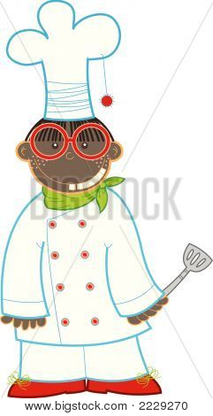 The Nerdy Kid Chef (Vector)