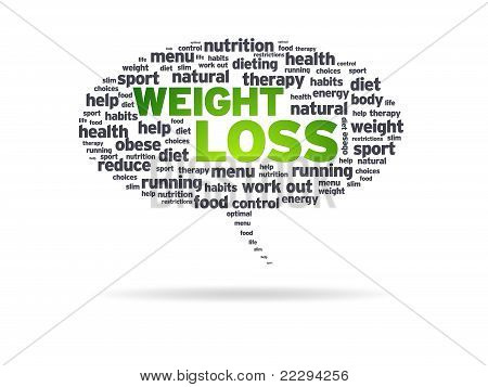 Speech Bubble - Weight Loss