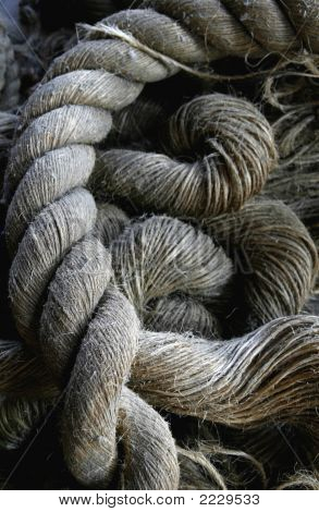 Old Ship'S Rope Rigging