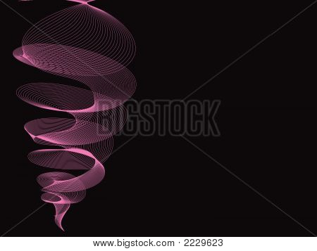 Pink Twister On Black (Vector)