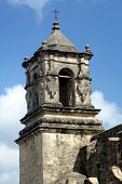 picture of 1700s  - bell tower at San Jose mission - JPG