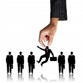 stock photo of lineup  - Human Resources concept - JPG