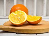 Orange Fruit. Orange Slices Half Orange Whole Orange Orange Background poster