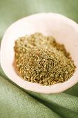 Zaatar spice mix - traditional Middle Eastern blend made with thyme, sesame seeds, salt, sumac, oreg poster