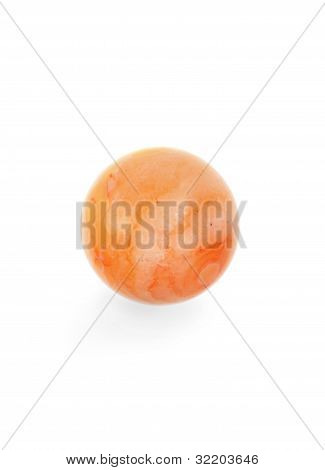 Pink Mineral Sphere Isolated On White Background