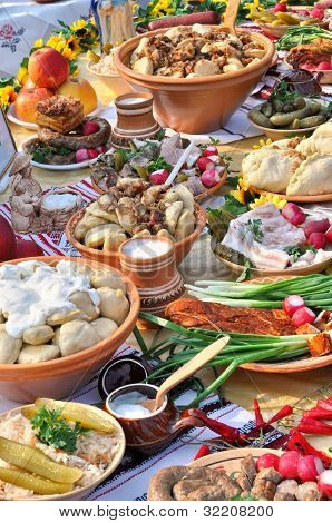 Traditional Ukrainian Food In Assortment
