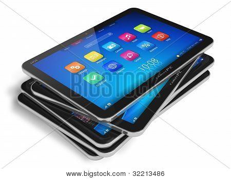 Conjunto de computadores tablet