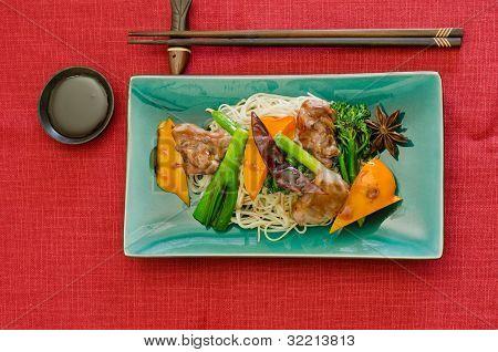 wok stir fry of duck in hoisin sauce