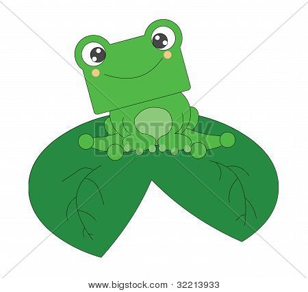 cute happy frog