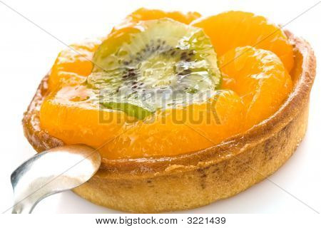 Fruit Cake With A Spoon