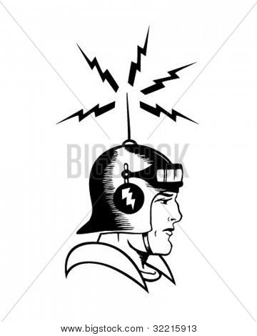 Space Cadet - Retro Clipart Illustration