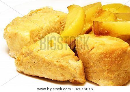 Roast Pork And Fried Potatoes