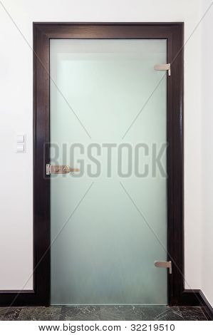 Modern Closed Glass  Door