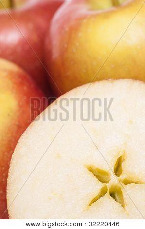 Closeup Of Braeburn Apples