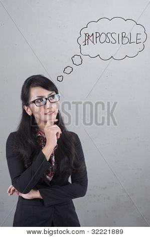 Optimist Asian Businesswoman