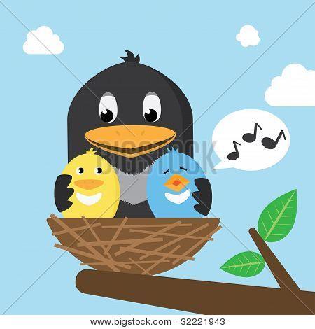 Birds In The Nest