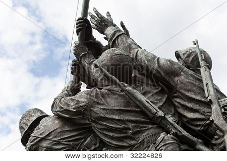Detail Of Iwo Jima Memorial In Washington Dc