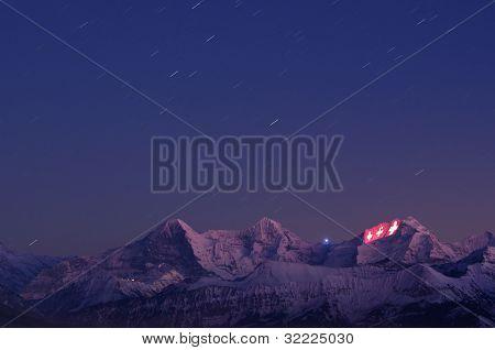 Light Show On Jungfrau