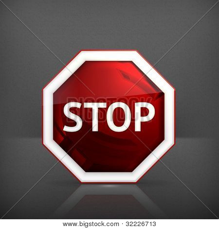 Stop sign, vector