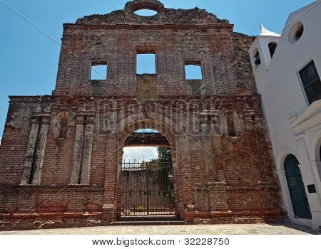 The Ruins Of The Church And Santo Domingo Convent In Panama City