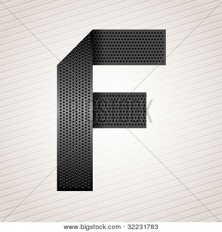 Letter metal ribbon - F