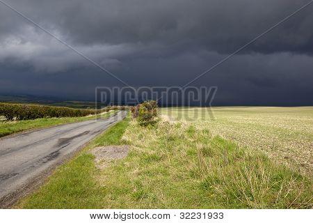 stürmischen ländliche Landschaft