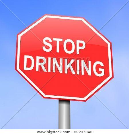 Alcoholism Concept.