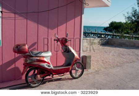 Scooter In Guana Cay