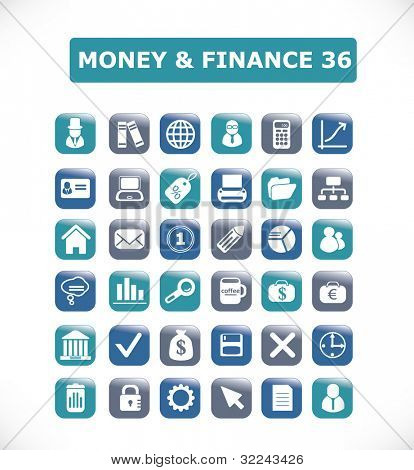 money and finance icon set 36 vol. 10 - vector easy edit