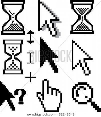 cursor set - vector