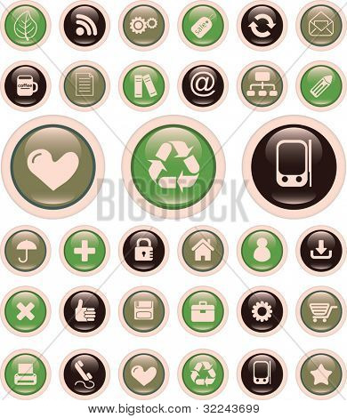 retro glossy buttons for web sites and applications
