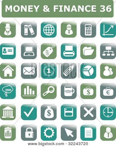 money & finance 36 icon set
