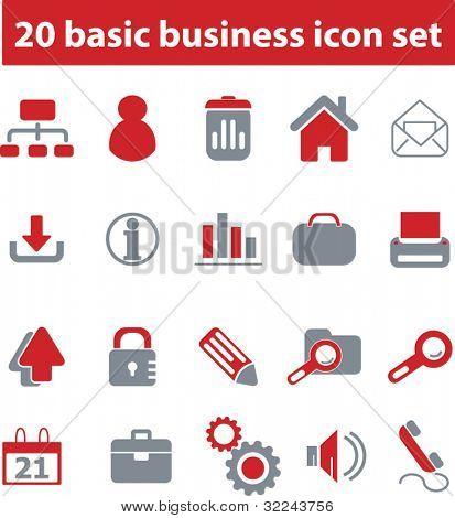20 basic business icon set # 02