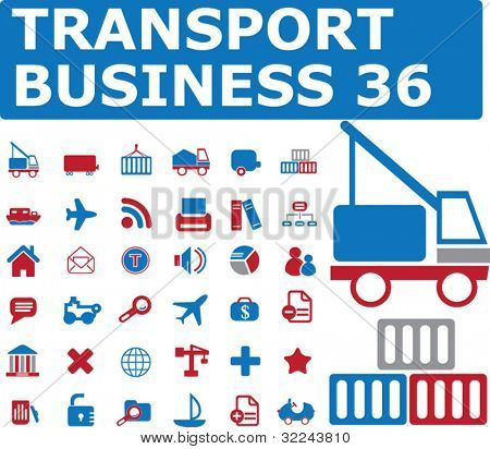 transport business 36 - vector icon set