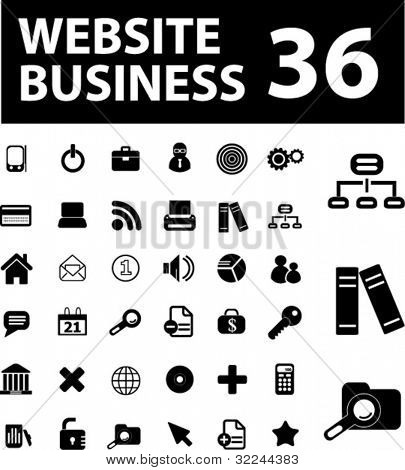 website business 36 icons. vector. see more in my portfolio