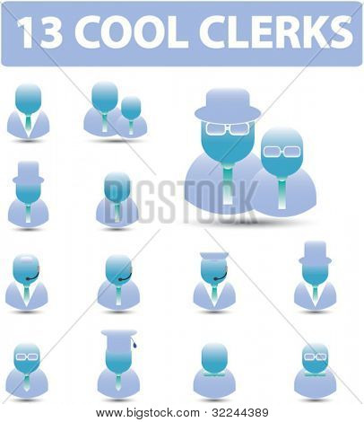 13 cool clerks - vector. see more in my portfolio