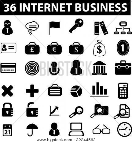 36 internet business signs. vector.