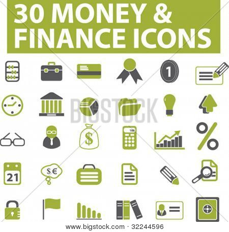 30 money & finance icons. vector